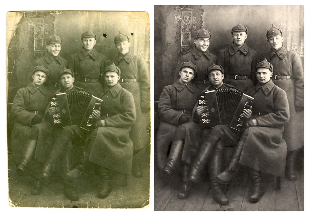 услуги восстановление старых фотографий новосибирск одежда должна